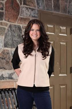 Leather Cream Women's Vest