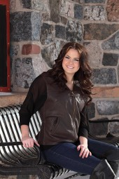 Women's Dark Brown Leather Vest
