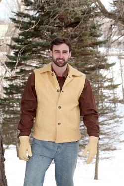 Men's Natural Deer Leather Vest