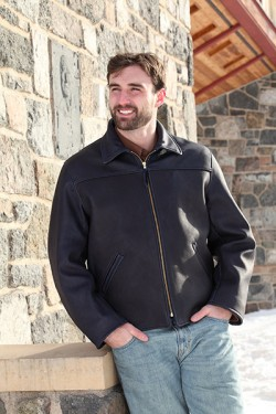 Men's Black Deer Jacket