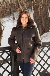 Women's Dark Brown Deer Jacket