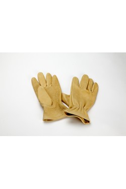Un-lined Work Glove with Gathered Wrist