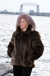 Beaver Parka with Fox Hood Trim
