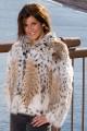 Premium Women's Bobcat Fur Bolero