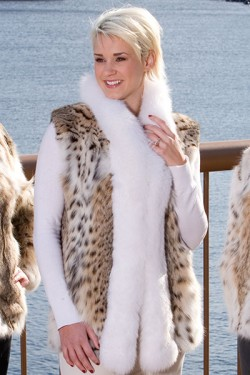 Premium Women's Bobcat Fur Vest
