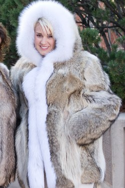 Genuine Coyote Fur Parka