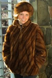 Wild Male Mink Diagonal Style Jacket