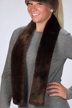 Plucked & Sheared Beaver Scarf
