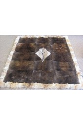 Beaver Bed Spread with Coyote Trim & center design - Full size