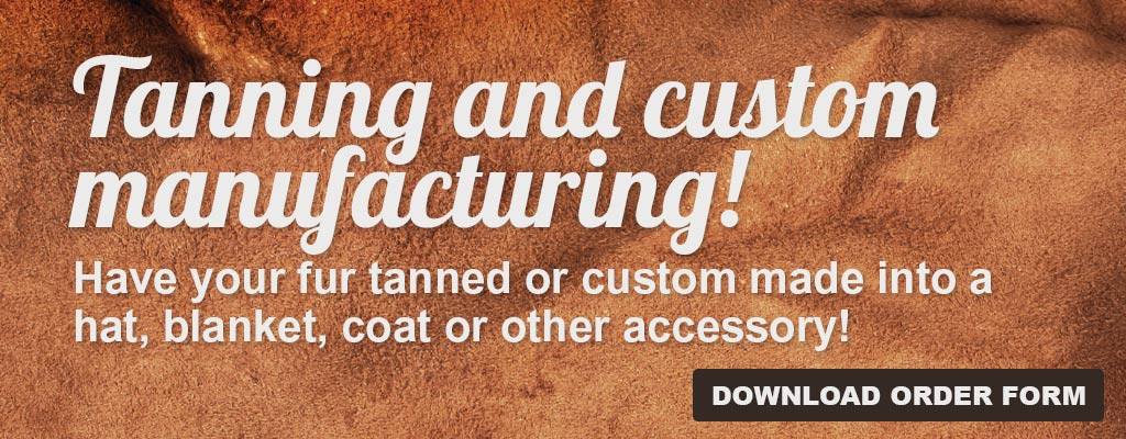 Download Tanning and Custom Manufacturing Order Form