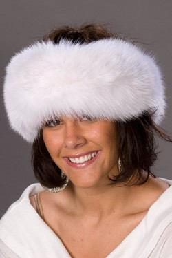 Premium White Fox Fur Headband