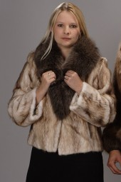 Genuine Bleached Muskrat Fur Bolero